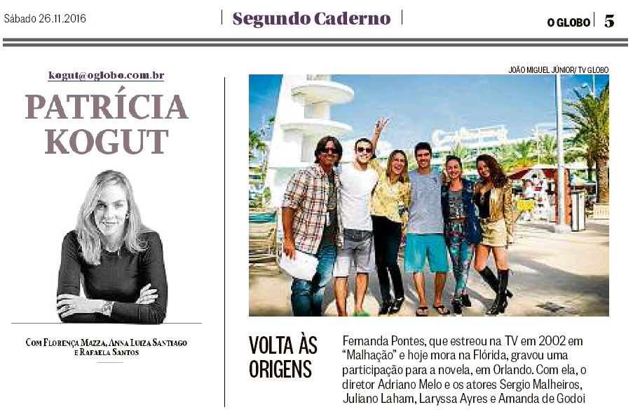 Sérgio Malheiros no Jornal O Globo.