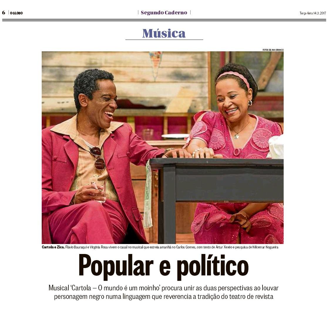 Flavio Bauraqui no jornal O Globo.