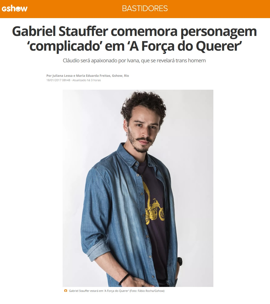 Gabriel Stauffer no site GShow.
