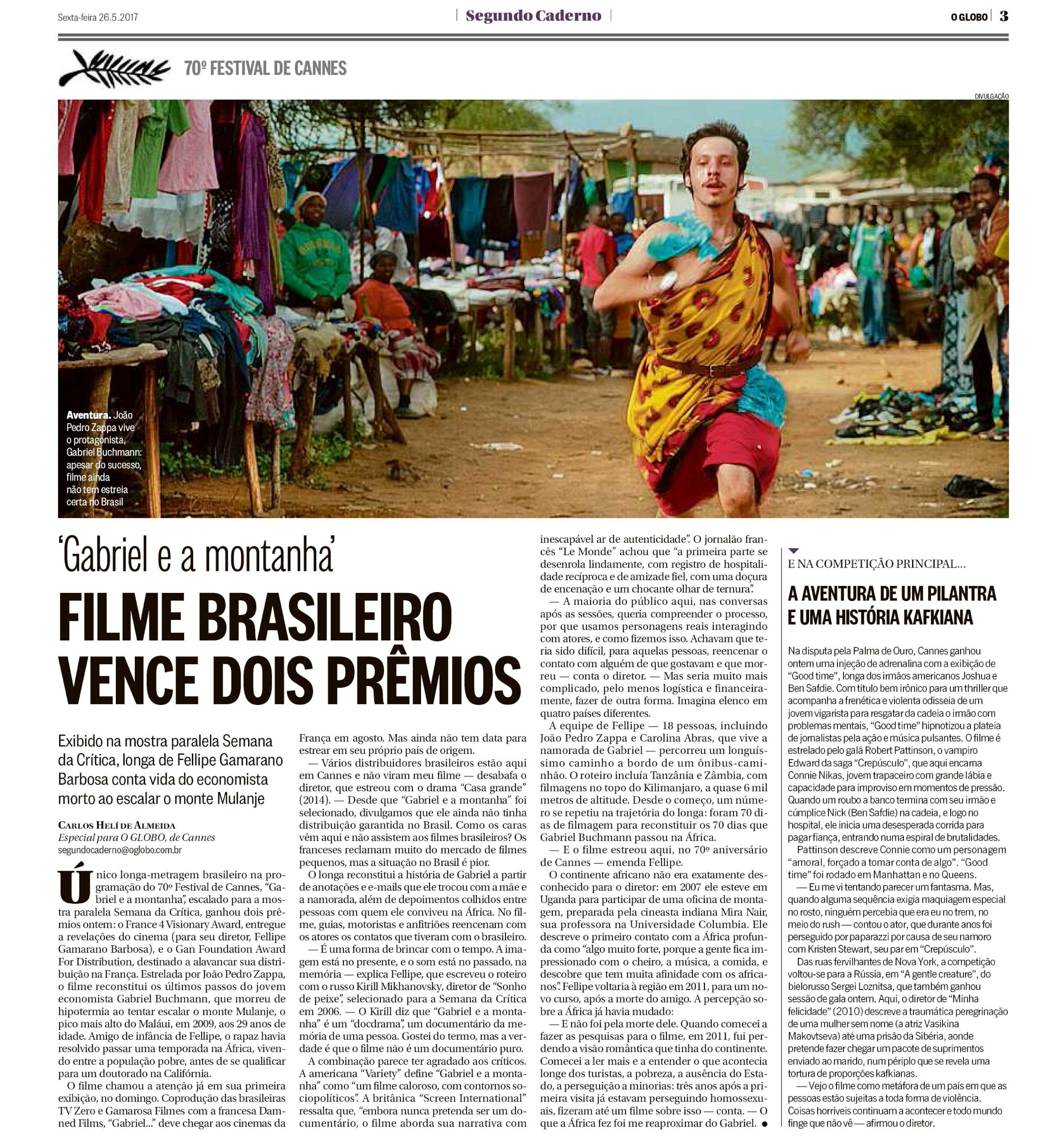 João Pedro Zappa no jornal O Globo.